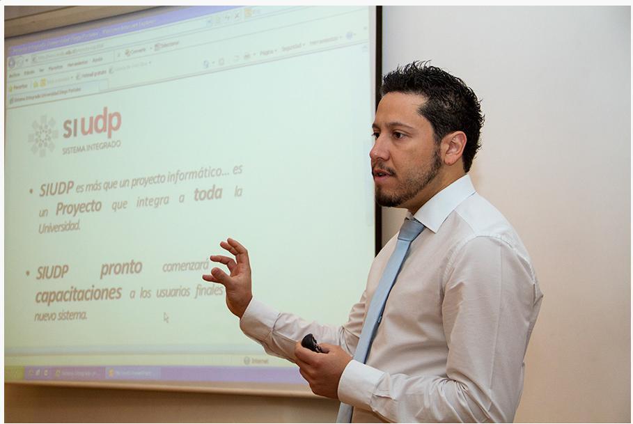 Andres Mardones  Jefe de Desarrollo Organizacional de la UDP